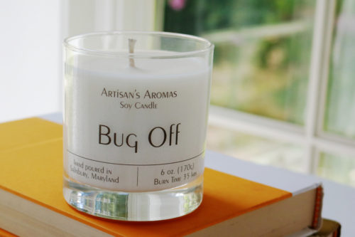 Soy candle scented citronella